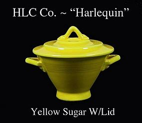 HLC Harlequin Original Yellow Color Sugar and Lid