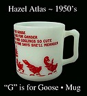 Hazel Atlas G is for Goose Alphabet Mug-1950s