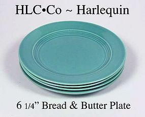 "HLC Harlequin Orig Turquoise 6"" Bread & Butter Plate"