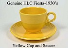 HLC Genuine Original Yellow Fiesta Cup & Saucer