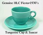 HLC Genuine Original Turquoise Fiesta Cup & Saucer