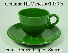 HLC Genuine Original Forest Green Fiesta Cup & Saucer