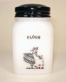 McKee Short FLOUR Shaker ~ Tipp Watering Can Lady ~