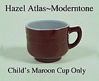 Hazel Atlas Fired On Moderntone Maroon Cup Only