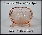 Lancaster ~ Carolyn ~ Landrum ~ 6in Pink Ftd Rose Bowl