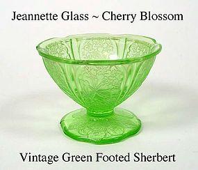 Jeannette Glass ~ Cherry Blossom Green ~ Ftd Sherbert