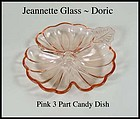 Jeannette Glass ~ Doric 3 part Candy Dish or Bowl