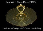 "Lancaster Glass ~ Landrum 11"" Yellow CH Serving Tray"