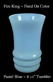Fire King Fired On Color ~ Pastel Blue Water Tumbler