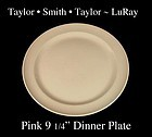 Taylor Smith Taylor LuRay Pink 9 inch Dinner Plate