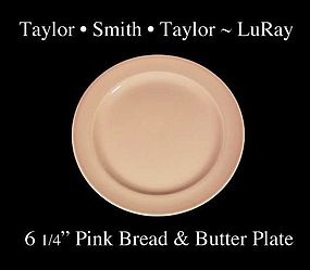 Taylor Smith Taylor LuRay Pink 6 inch Bread Plate
