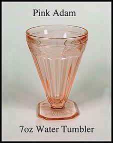 Jeannette Glass ~ Pink Adam ~ 7oz Water Tumbler