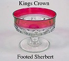 Tiffin U.S. Glass Indiana King's Crown Footed Sherbert