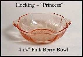 "Hocking ~ Pink Princess ~ 4 1/4"" Berry Bowl"