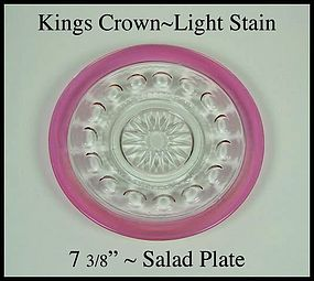 Tiffin ~ Indiana King's Crown Light Stain Salad Plate