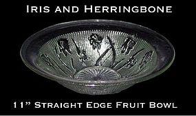 Jeannette ~ Iris and Herringbone Lg Straight Fruit Bowl