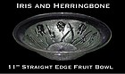 Jeannette ~ Iris and Herringbone Lg Straight Fruit Bowl