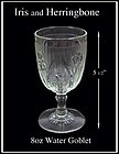 Jeannette ~ Iris & Herringbone Crystal 8oz Water Goblet