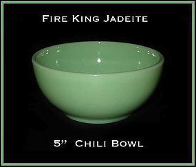 "Hocking Fire King 5"" Jade Jadeite Chili Bowl ~ Nice!"
