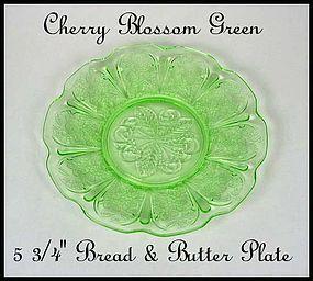 Jeannette  ~ Cherry Blossom Green~Bread & Butter Plate