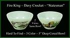 Fire King Davy Crockett HTF 3 Color Statesman Bowl