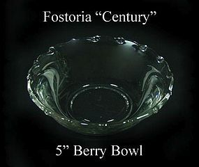"Fostoria Glass Co. ~ 1950's ~ ""Century"" 5"" Berry Bowl"