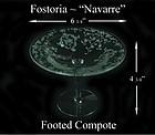 """Fostoria Glass Co. ~ 1930's ~ """"Navarre"""" 6"""" Compote"""