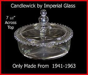 Candlewick by Imperial 400/110 3 Way Divided Candy