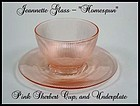 Jeannette Glass ~ Pink Homespun ~ Sherbert & Underplate