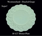 "Westmoreland ""Paneled Grape"" PG  10 1/2"" Dinner Plate"