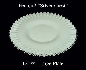 "Fenton Art Glass Silver Crest Large 12"" Chop Plate-Nice"
