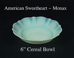 "MacBeth Evans American Sweetheart Monax 6"" Cereal Bowl"