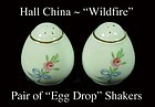Hall China Wildfire Pair of Egg Drop SALT & PEPPER