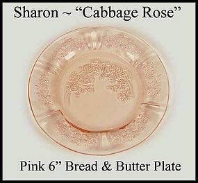 Federal ~ 1930s Pink Sharon 6 inch Bread n Butter Plate
