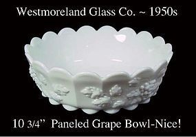 Westmoreland WMG PG 83 Paneled Grape Large 11' Bowl