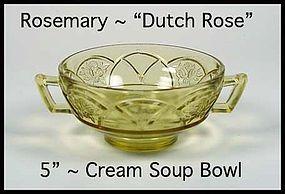 Federal Glass ~ Rosemary Dutch Rose Amber Cream Soup