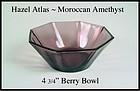 """Hazel Atlas Moroccan Amethyst 4 3/4"""" Berry Bowl"""