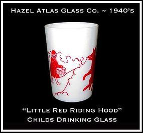 Hazel Atlas Childs Red Little Red Riding Hood~Tumbler