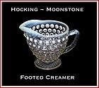 Anchor Hocking ~ Opalescent Moonstone Creamer