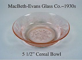 "MacBeth-Evans Dogwood Pink 5 1/2"" Cereal Bowl"
