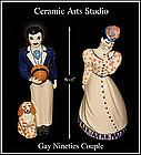 Ceramic Arts Studio 1952 Gay Ninety Couple