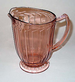 Sierra Pinwheel Pink 32oz Footed Pitcher
