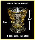 Yellow Florentine II - 5 oz Footed Juice Glass