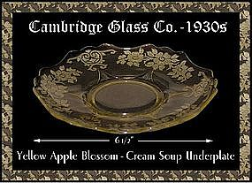 Cambridge Yellow Apple Blossom Cream Soup Underplate