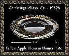 Cambridge Yellow Apple Blossom Dinner Plate