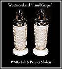 Westmoreland Paneled Grape Footed Shakers