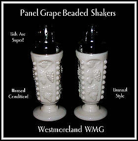 Westmoreland Paneled Grape Beaded SALT & PEPPER Shakers