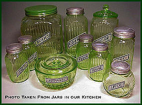 Vintage Like Anchor Hocking Foil Canister~Shaker Labels
