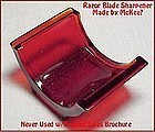 McKee Red Glass Wartime Razor Blade Hone Org Papers