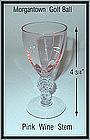 Old Morgantown Golf Ball Stem Pink Wine